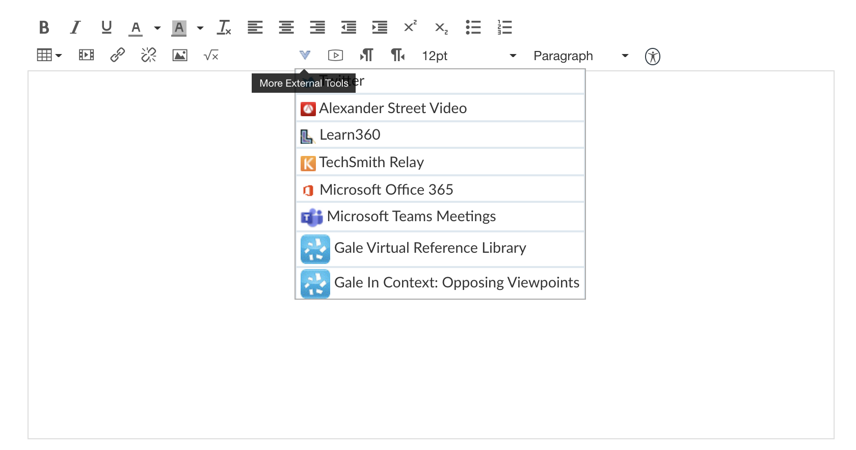 Canvas screenshot of content editor